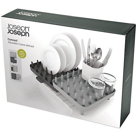 Joseph Joseph Connect Adjustable 3-Piece Dish Rack - White or Grey - £20.80 @ John Lewis
