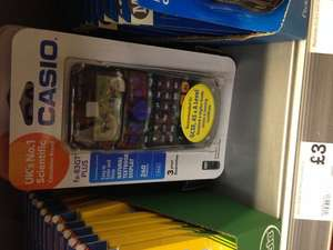 Casio Calculator FX 83 GT Plus £3.00 Morrisons