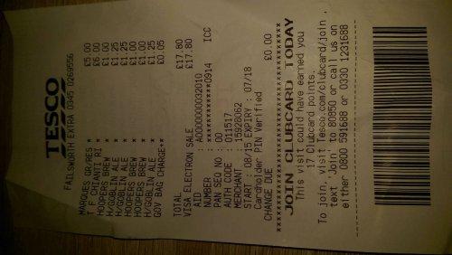 Hoopers Dandelion and Burdock pricing error £1.00 @ Tesco's failsworth