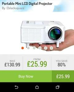 Digital LCD projector £25.99 @ GoGroupie