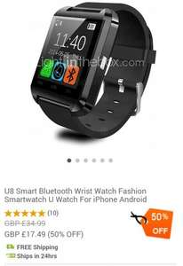 Bluetooth smart watch incl free delivery £17.49 @ Miniinthebox