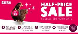 Half Price Sale Oxfam Unwrapped Charity Gifts