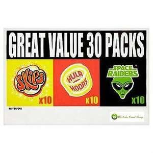 Mixed Snacks Case 30pks £2.99 @ Martin McColl's