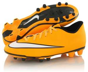 Nike Mercurial Vortex II FG Mens Firm Ground Orange Football Boots £15 at Nike Factpry Store Fort Shopping Centre Manchester