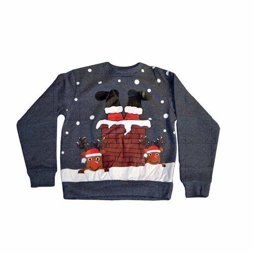 Christmas Jumper - Chimney Design & a Santa hat (with code) £6.38 @ InternetGiftStore