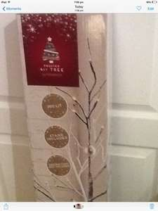 Frosted 4ft twig tree £20 reduced from £40 sainsburys