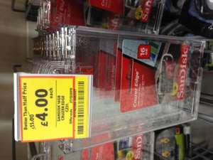 Sandisk Cruzer memory stick 16GB, instore and online £4.00 @ Tesco