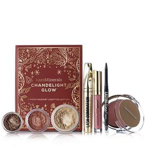 BareMinerals 7 Piece Chandelight Glow Make-Up Collection was £57.00 on qvc uk. com plus £4.95 p&p  Now £39.96
