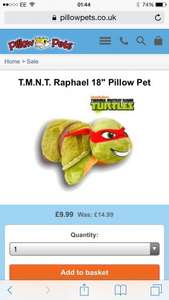 Teenage Mutant Ninja Turtles TMNT £9.99 @ Pillow Pets Free Christmas Delivery