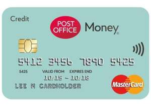 0% on Credit Card Purchases for 27 months - longest ever free fee spending card on Matched Credit Card + TCB / Quidco @ Post Office Money