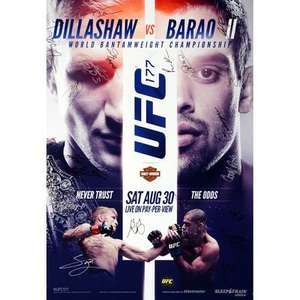 UFC Europe Storewide 25% off, Amazing deals on already REDUCED items...Official UFC signed posters from just £37.48!