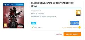 BLOODBORNE: GAME OF THE YEAR EDITION (PS4) £37.95 @ The game collection