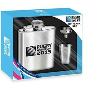 Official Rugby World Cup 2015 Hip Flask Set Was £14.99 Now 0.99p @ Home Bargains