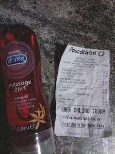 £1 durex massage 2 in 1 sensual @ Poundland Leicester town centre