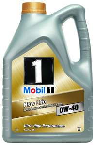Mobil 1 New Life 0W-40 Engine Oil 5L delivered £30.55 @ Amazon [Lightning Deal]