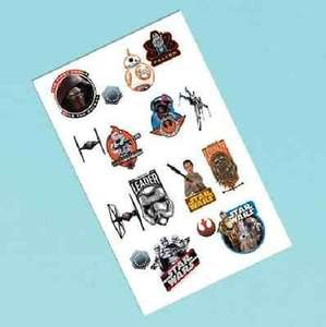 Star Wars The Force Awakens Temporary Tattoos £3.49 delivered @ Amazon / Little People Party Supplies