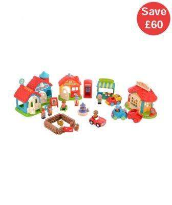 HappyLand Bumper Village Set £32 at ELC using code