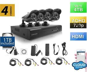 Sumvision CCTV 720p HD Surveillance Security Camera System with built in 1TB Hard Drive AHD DVR NVR Recorder Oracle Hybrid with Weather Proof Night Vision Cameras 720p HD, 960H/D1 Compatible £154.40 @ Amazon/Bluestone Online
