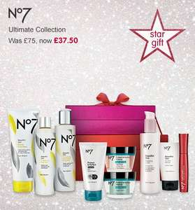 Boots Star Gift No7 ultimate collection now on offer £37.50 was £75