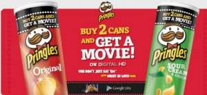 Pringles movies are back ! Buy two pringles get a HD movie free!