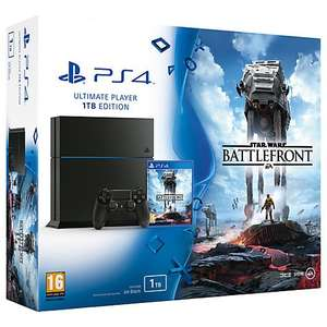 PS4 1TB Star Wars Battlefront with FREE Until Dawn & FIFA 16 - £329.95 - John Lewis