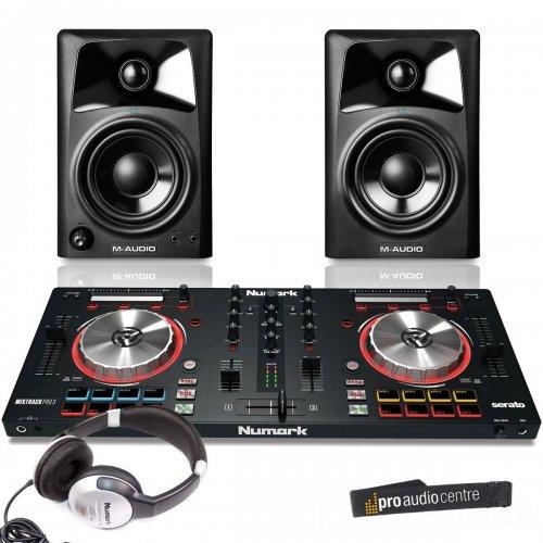 Numark Mixtrack Pro 3 Package with M-Audio AV32 Active Studio Monitors and HF125 DJ Headphones @ Amazon £229.99