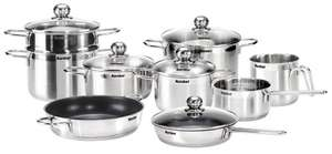 Karcher Jette Stainless Steel Saucepan Set 14 Pieces Suitable for Induction Cookers £89.99 @ Amazon