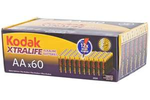 Kodak AA Xtralife Alkaline Battery (Pack of 60) - £9.99 (Prime) £14.74 (Non Prime) @ Amazon