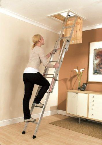 Youngman Easiway Aluminium 3-Section Loft Ladder £53.45 @ Amazon