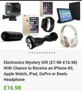 Mystery electronic gadget box which could be a iphone6s, apple watch, ipad, beats etc for £16.98 @ groupon