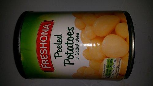 Peeled tinned potatoes 15p Lidl instore.