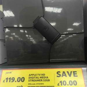 Apple TV 32gb £119 @ Tesco instore