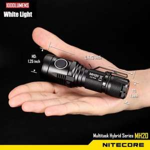 Nitecore MH20 Cree XM L2 U2 6000K Rechargeable LED Flashlight - £33 - Gearbest