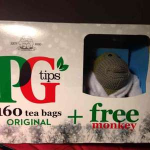 PG tips 160 tea bags and a free monkey £4.00 @ Co-op instore