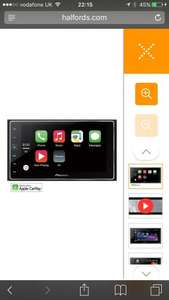 Pioneer SPH-DA120 Car Stereo with Apple CarPlay @ Halfords