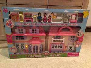 Electronic Lights & Sounds Doll House Play Set, 21 piece with play mat £10 @ Morrisons
