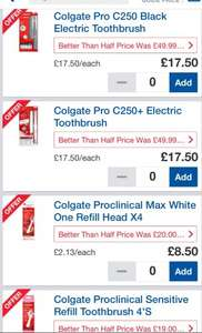 Colgate electric toothbrush & refil heads BETTER THAN HALF PRICE £8 at Tesco