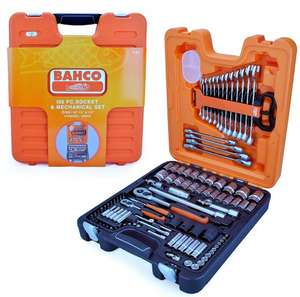 Bahco S106 S106 Socket Set 106-Piece 1/4 & 1/2-Inch Drive £100 @ Amazon