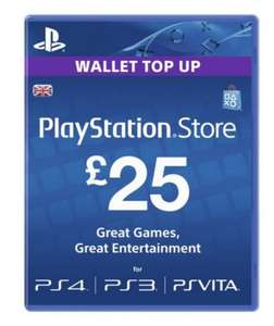 PlayStation Store £25 Wallet Top Up £22.50 at Tesco Direct
