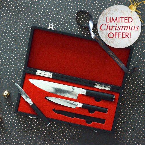 ProCook X100 VG10 Damascus Knife Set 3 Piece £129.00 + free del @ Procook
