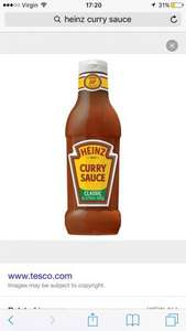 Heinz curry sauce (375ml)  £1 @ Iceland