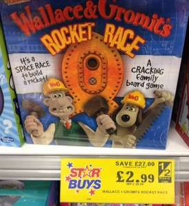 Wallace and Gromit Rocket Race Board Game £2.99 at Home Bargains