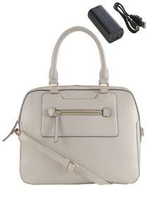 Tech Tote Hand Bag with Charger Was £35.00 Now £11.00 @ F&F with free delivery via Click and Collect