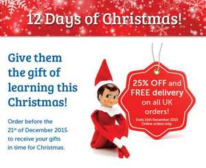 25% off plus free delivery for all  UK orders! Learning Resources