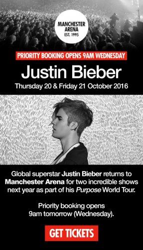Justin Bieber presale tickets