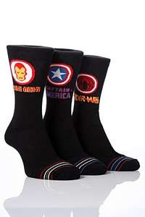 Men's marvel socks, 3 pairs for £2.25 delivered @ Sock Shop