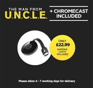V2 Chromecast + Man from U.N.C.L.E (+ £20 Google play store credit) £22.99 @ Wuaki