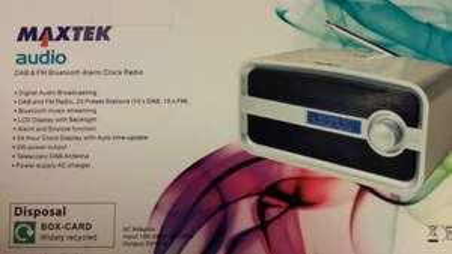 Maxtek DAB alarm clock with Bluetooth streaming £10 from Aldi.