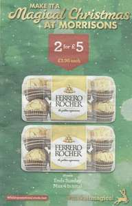 Ferrero Rocher 16 pack 200g - 2 for £5 Morrisons - Online and Confirmed National deal