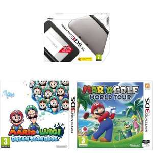 Amazon: 3DS XL, Mario Golf: World Tour and Mario & Luigi: Dream Team Bro's - £99.00